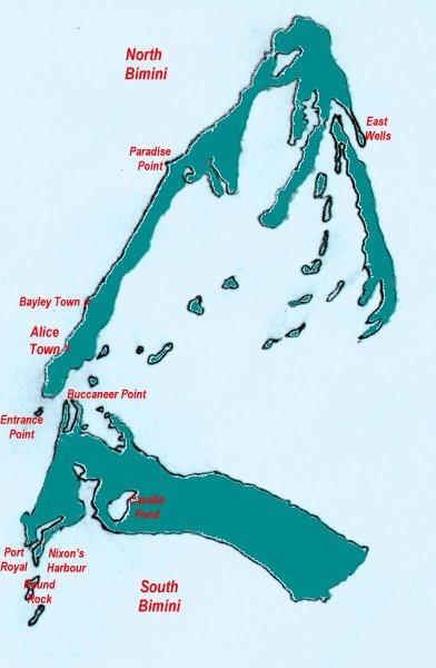 Bimini Island Map